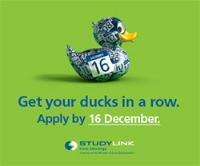 Studylink - Ducks in a row ad.
