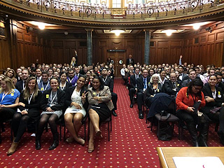 Aspiring Young Leaders at opening in Grand Hall