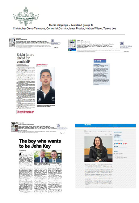 Media clippings from Auckland group 1