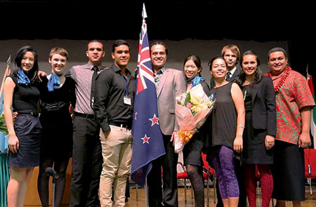 25th Ship for World Youth NZ delegation